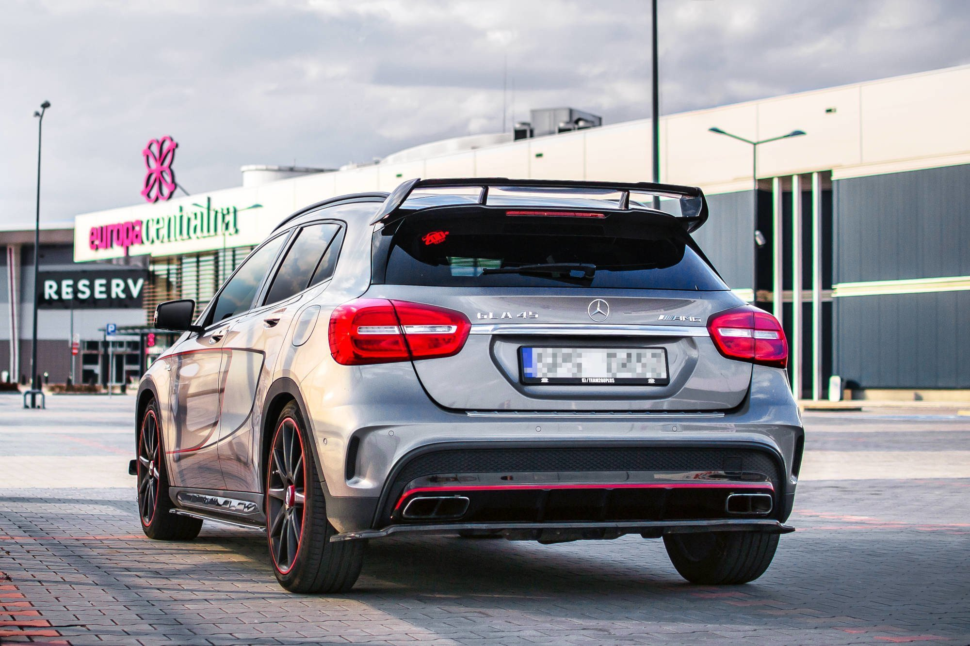 Mercedes Gla 45 Amg >> Spoiler Extension Mercedes Benz Gla 45 Amg Suv X156