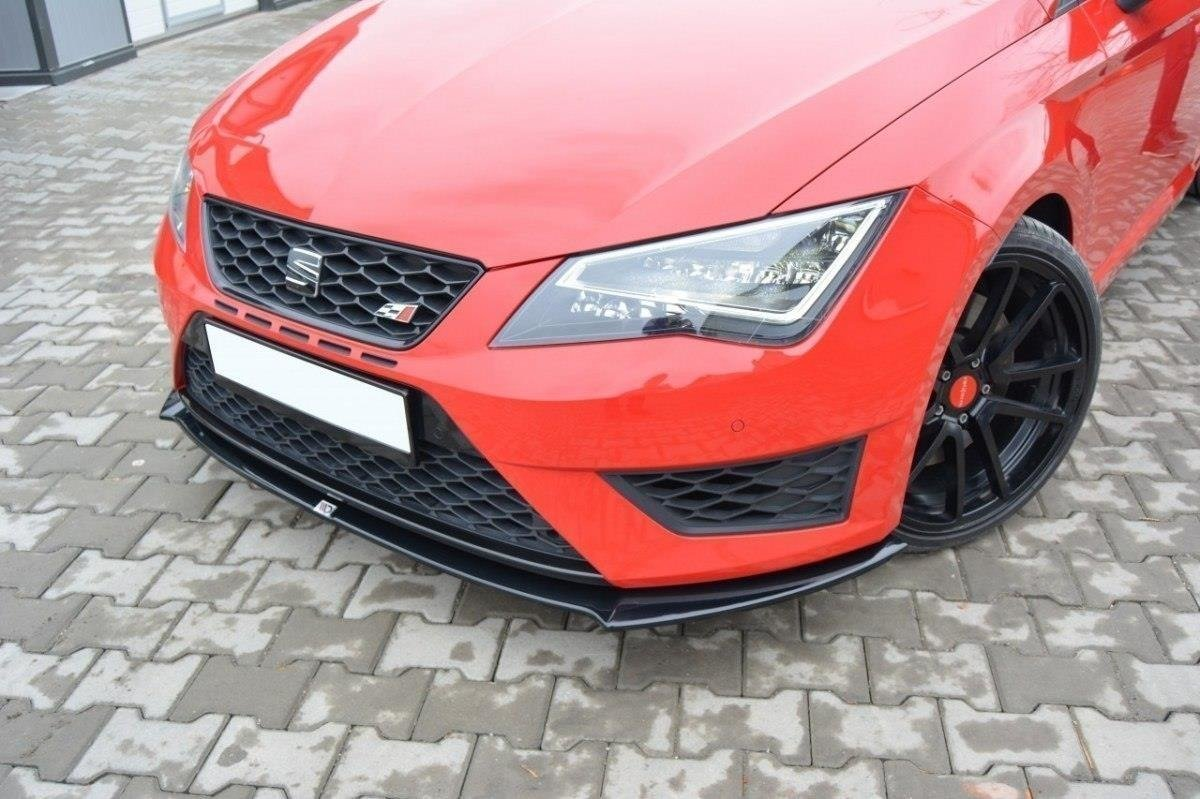 frontdiffusor seat leon iii cupra fr gloss black shop. Black Bedroom Furniture Sets. Home Design Ideas